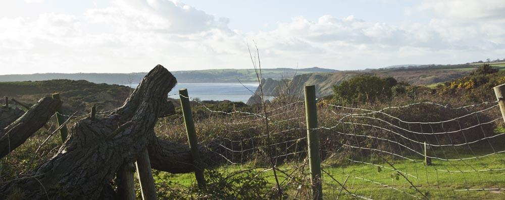 View of nearby Three Cliffs Bay only 5min walk.