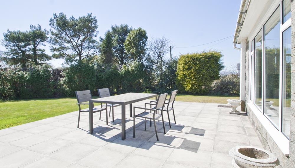 The patio at The Retreat holiday home