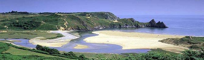 Three Cliffs Bay is a beautiful walk from your fro
